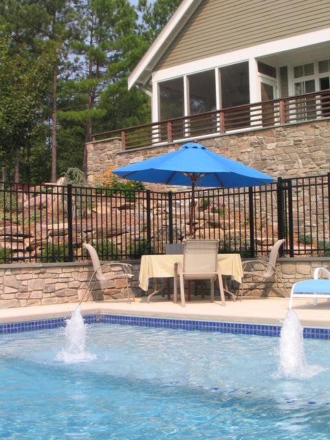 Apex Swimming Pool at New American Farmhouse farmhouse-landscape