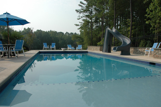apex swimming pool at new american farmhouse