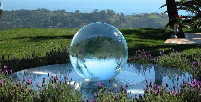 Aqualens Sphere Fountain Modern Landscape