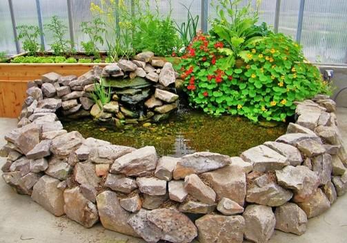 Aquaponics ponds tropical landscape phoenix by for Aquaponics fish pond