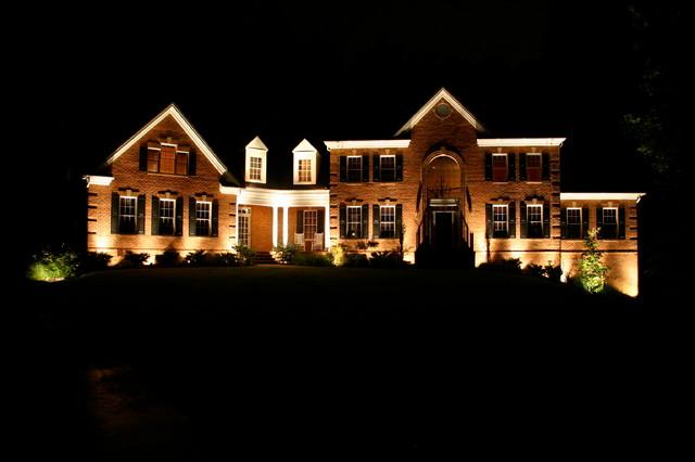 Architectural outdoor facade lighting Nashville TN