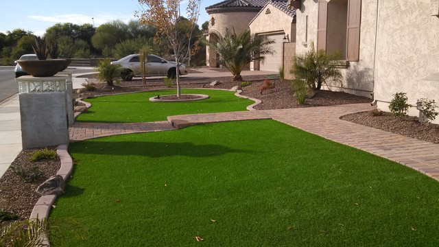 Landscaping Ideas For Front Yard In Arizona : Arizona front yard landscape design