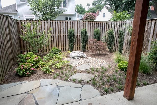 Synergy design construction design build firms - Arlington Townhome Remodel Transitional Landscape