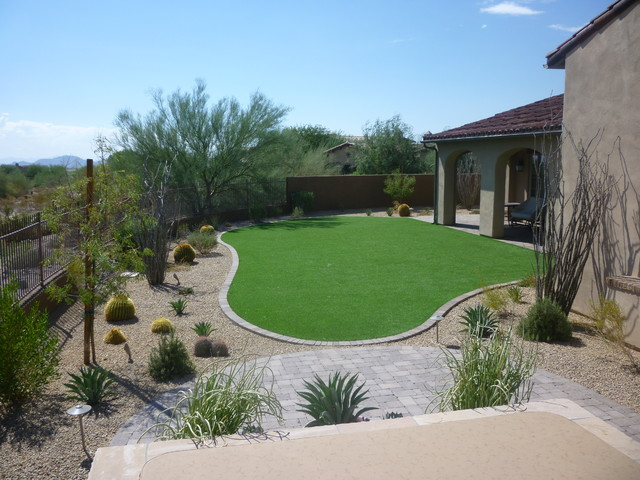 Artificial turf contemporary landscape phoenix by for Landscape design phoenix