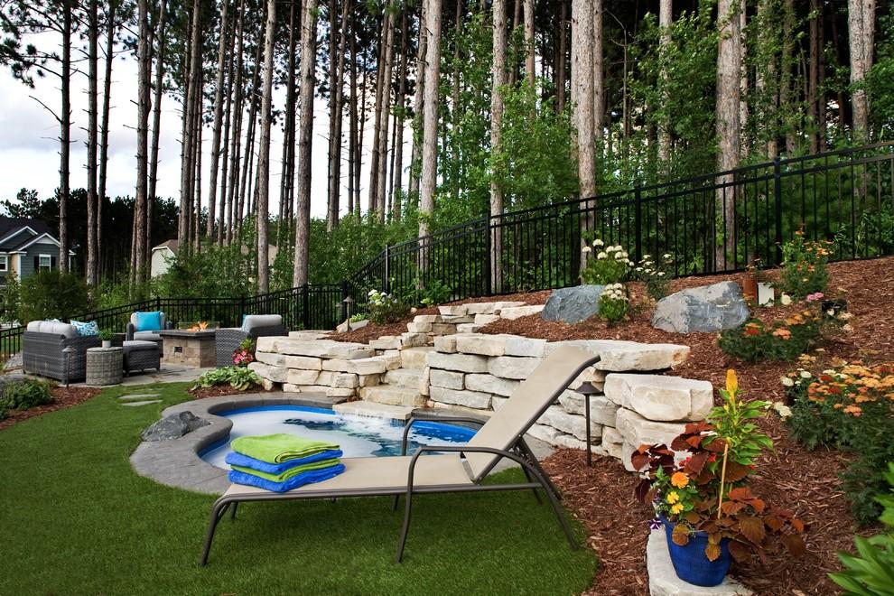 Artificial Turf | No-Mow Forest Backyard | Inver Grove ... on No Mow Backyard Ideas id=44667