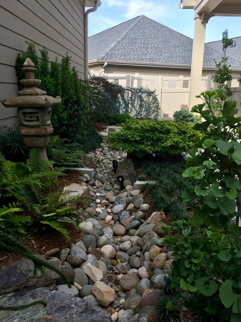 This is an example of an asian landscaping in Charlotte.
