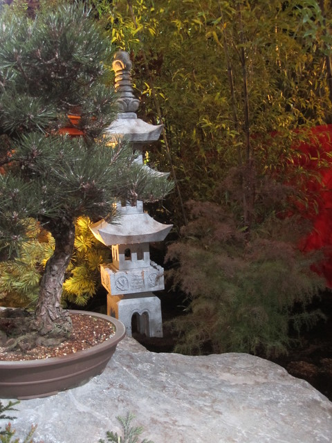 Asian meditation garden and outdoor room for Japanese meditation garden design