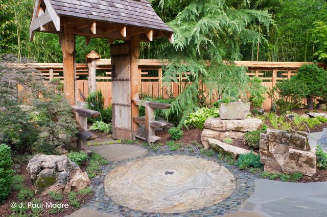Asian Style Garden Asian Landscape Nashville By J