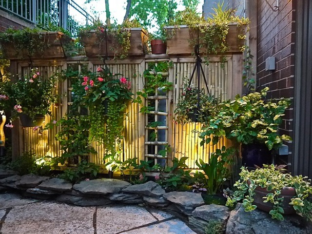 Asian style patio garden Asian Landscape Chicago by
