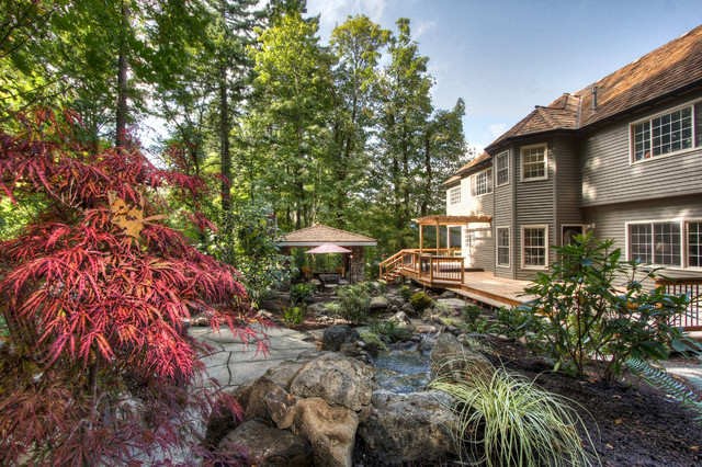 At one with nature traditional garden portland by for Paradise restored landscaping exterior design