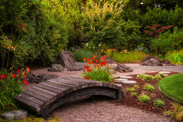 Atherton japanese garden asian landscape san for Houzz landscape architects