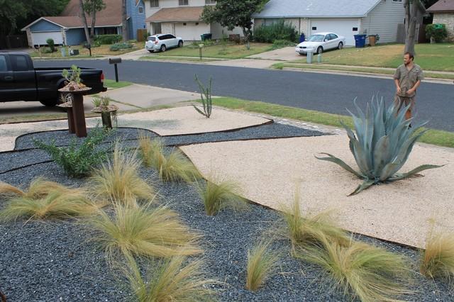 Austin native landscaping portfolio xeriscape design for Native landscape design