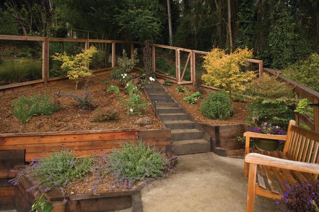 Award winning terraced garden landscape san francisco for Award winning backyard designs