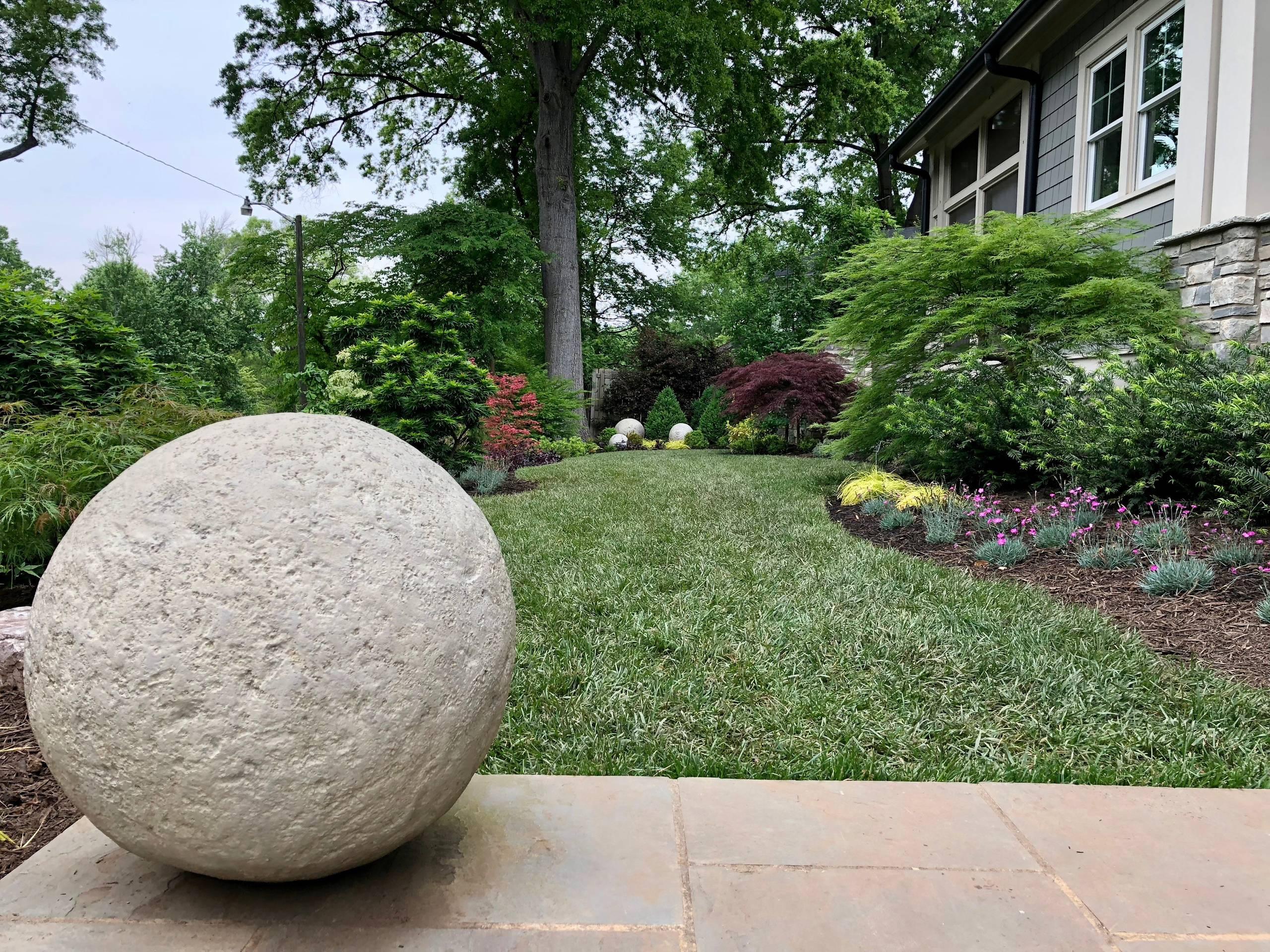 Axial spheres