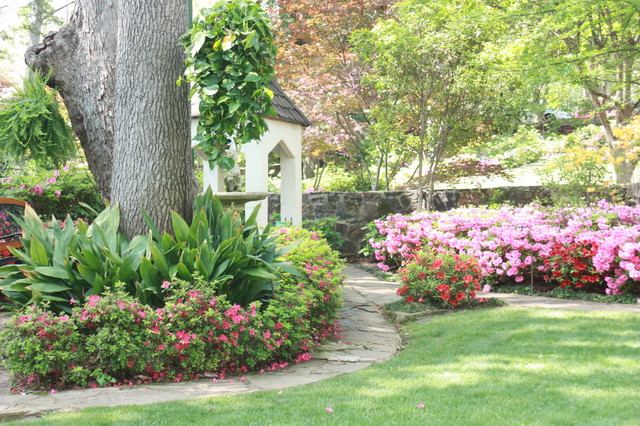 Landscaping Under The Trees : Azalea tours in tyler tx traditional landscape