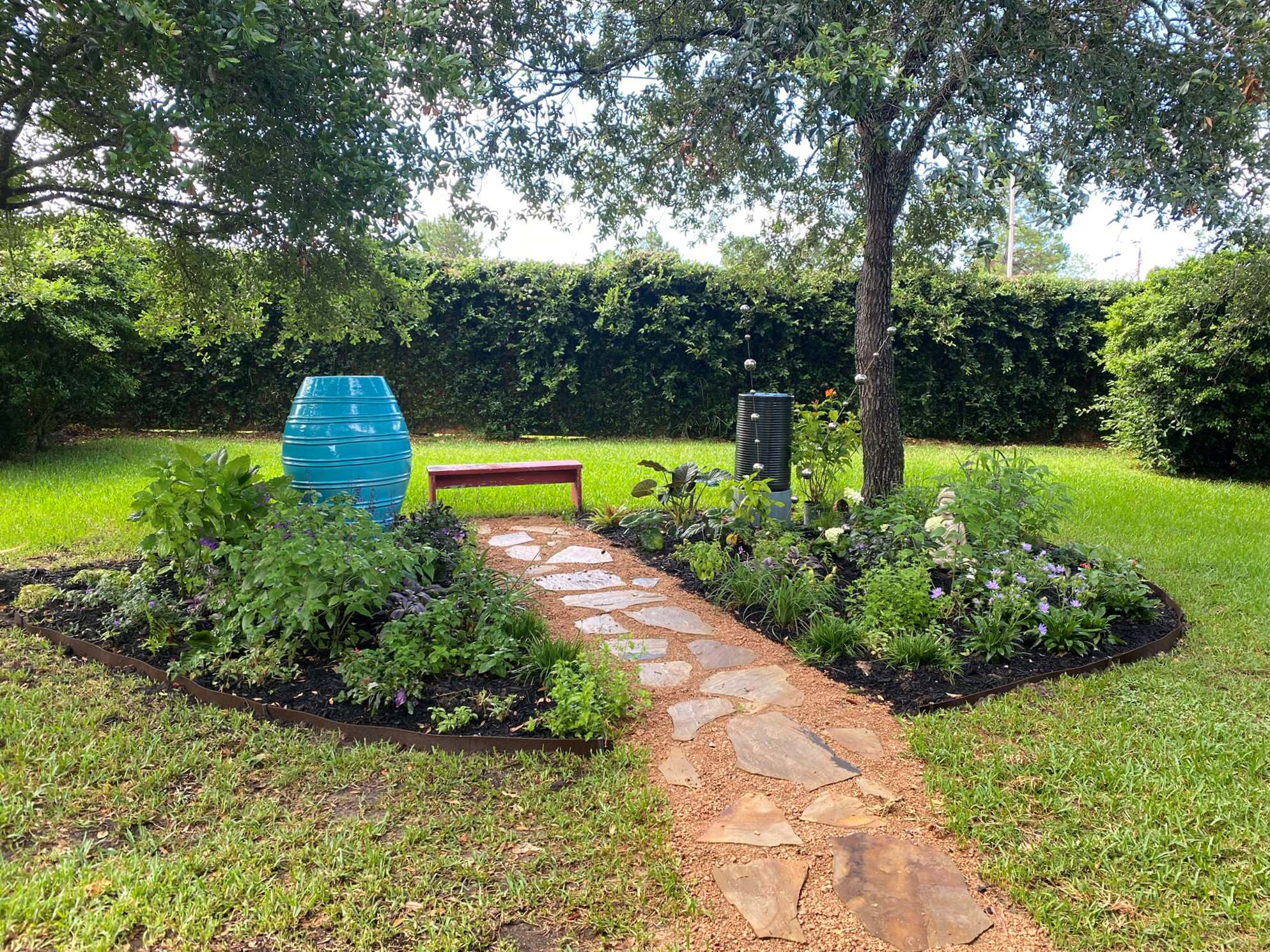 Back porch and yard makeover