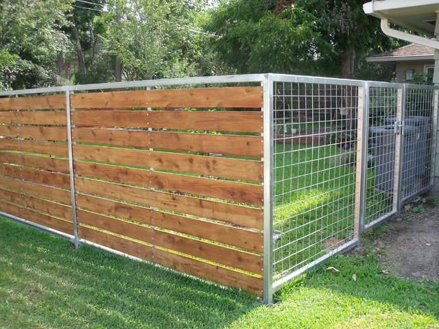 back yard fence contemporary home fencing and gates