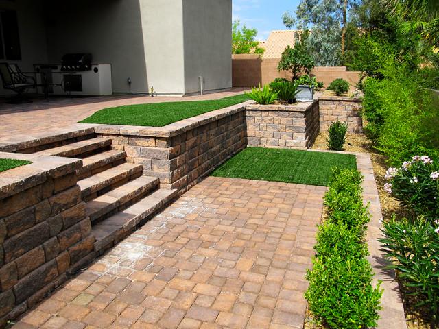back yard installations contemporary landscape las vegas by