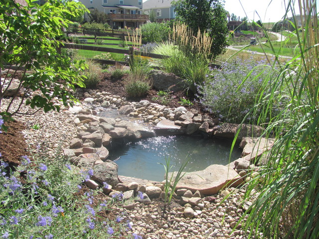 how to build a natural stream pond