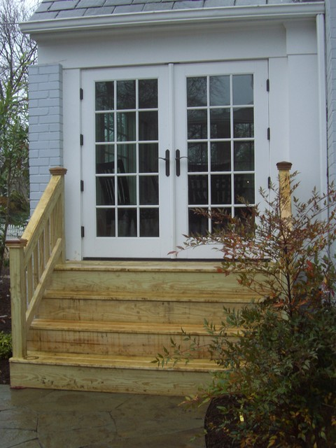 Genial Backdoor Steps Traditional Garden