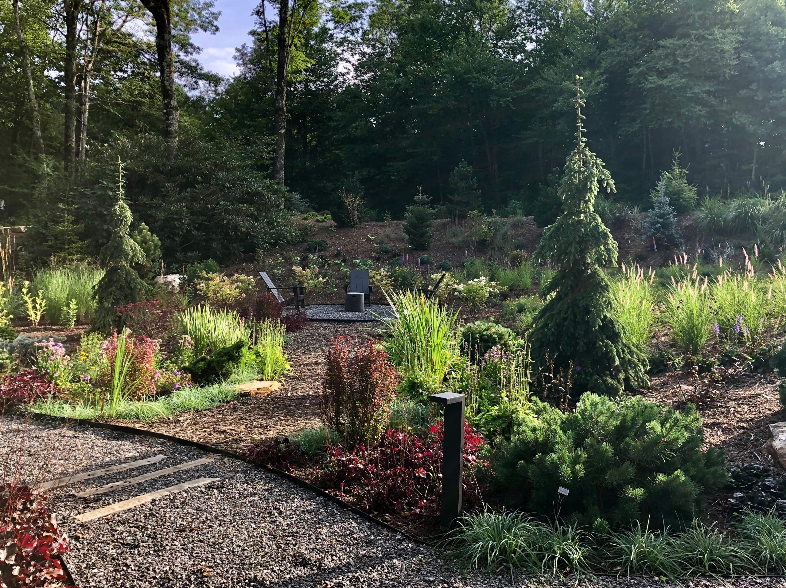 Backlit front garden