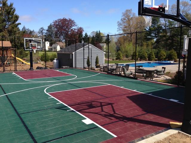 Backyard Basketball Courts - Traditional - Landscape ...