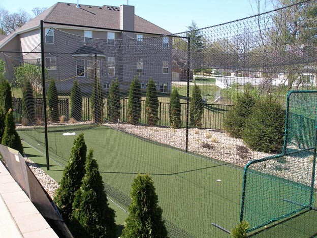 Genial Backyard Batting Cage Traditional Landscape