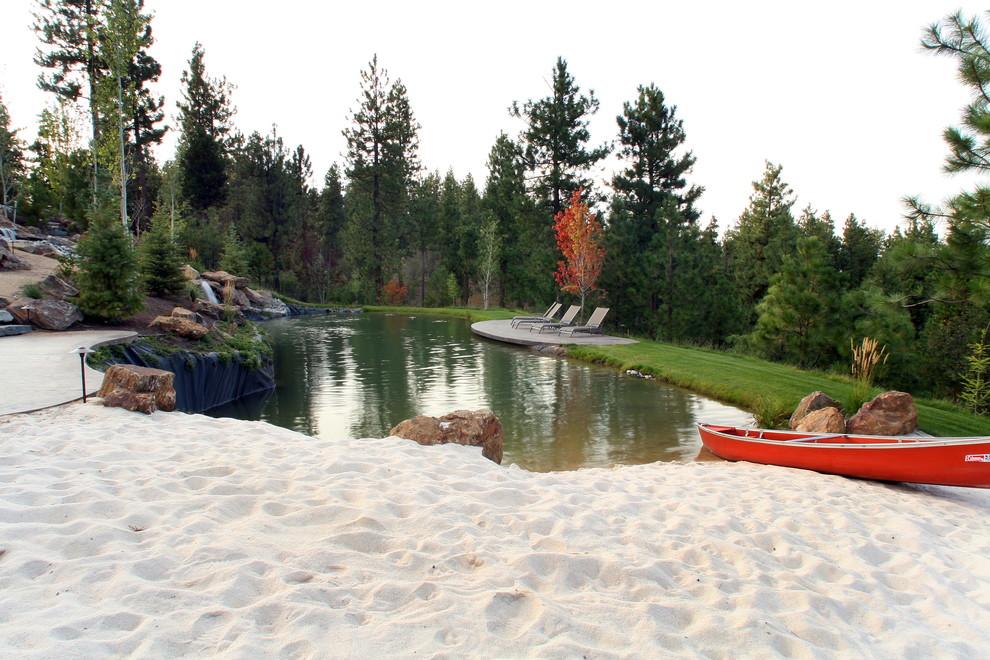 Backyard Beach Modern Landscape