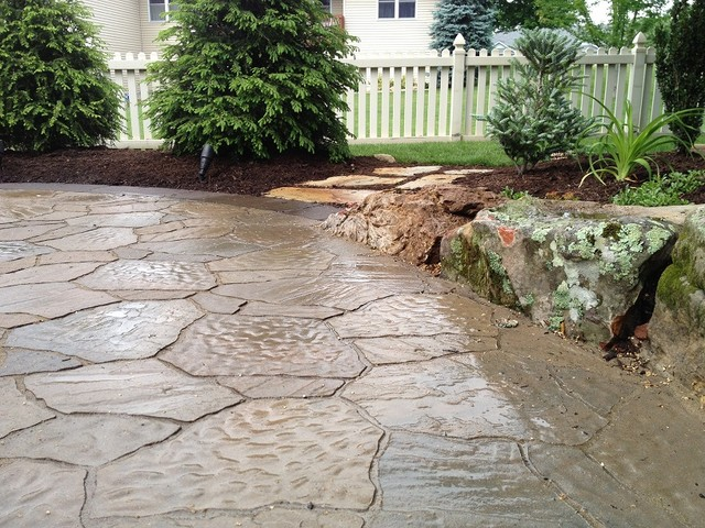 Backyard Brick Paver Patio With Fire Pit In Warsaw In