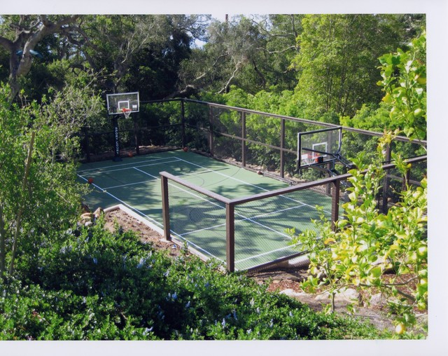backyard courts traditional landscape