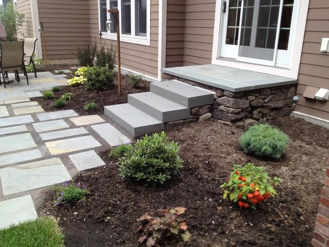 Backyard Flagstone Patio and Gardens in Maple Grove, Minnesota contemporary-landscape