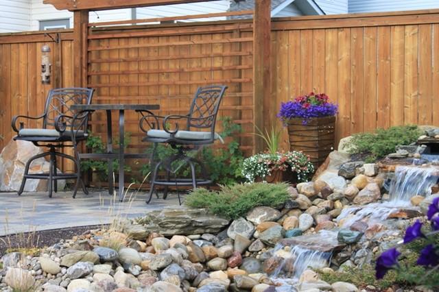 Backyard full of serenity modern landscape calgary for Landscape design calgary