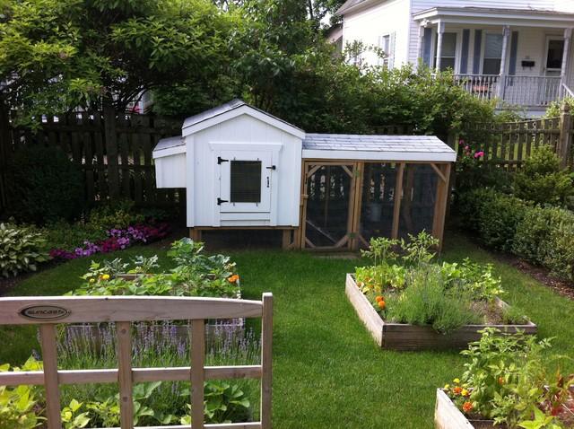 Backyard Garden - Farmhouse - Landscape - Boston - by ... on Farmhouse Backyard Landscaping id=42829