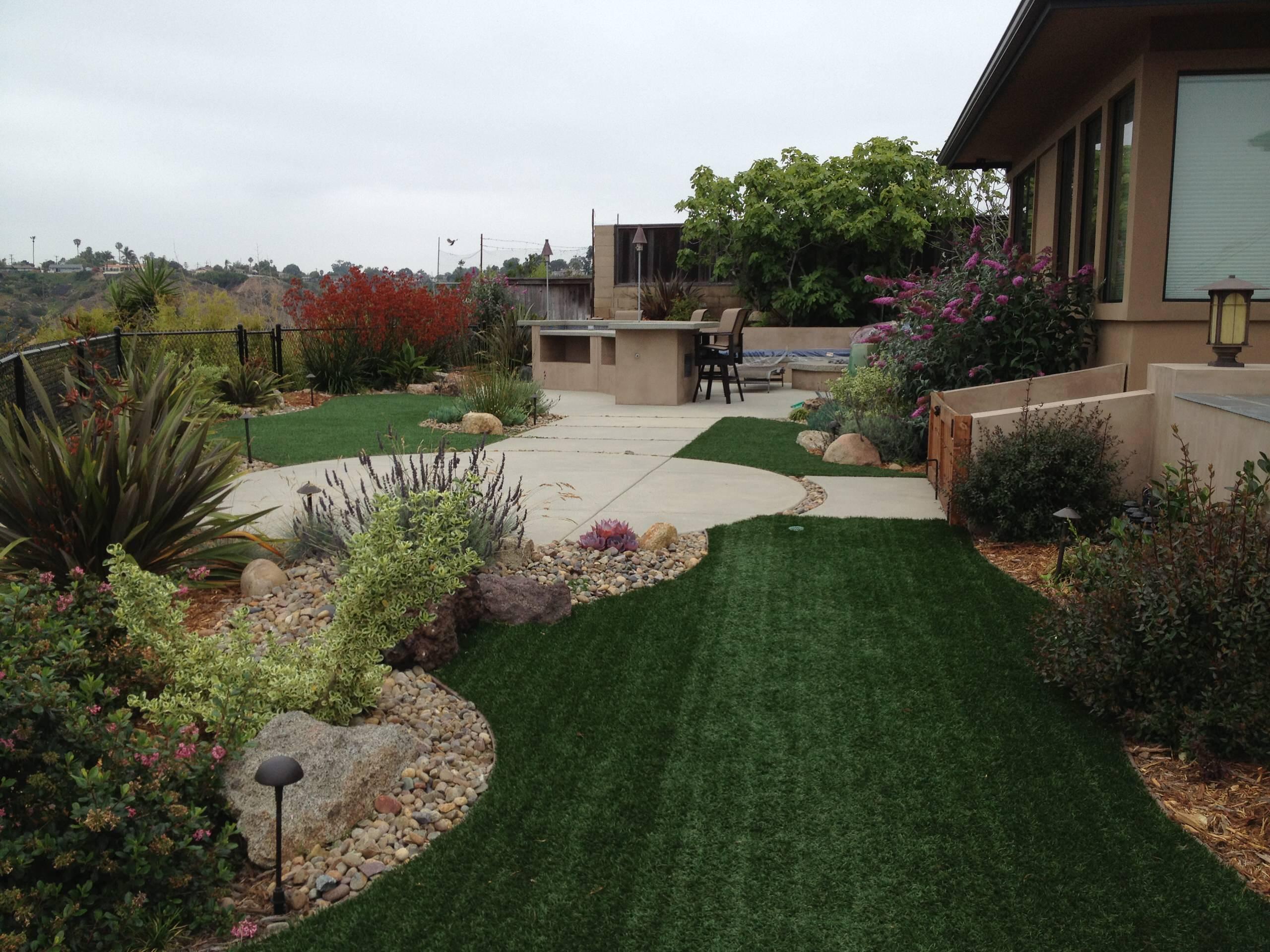 Backyard Garden Turf Area
