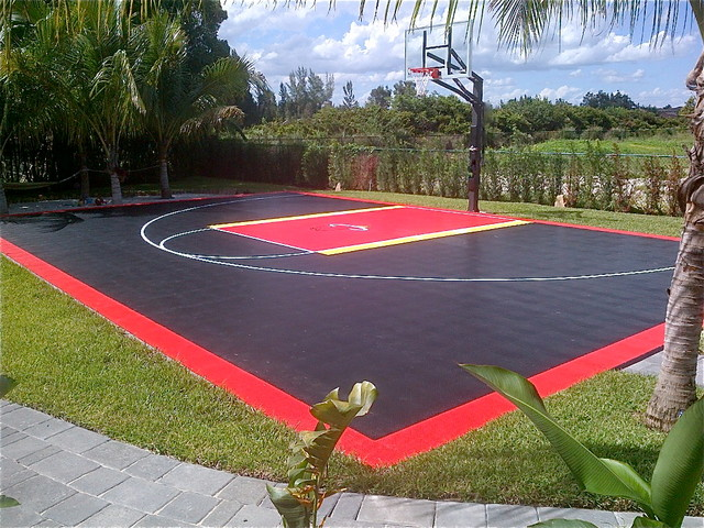 Backyard Home Court In Miami Snapsports Outdoor Game