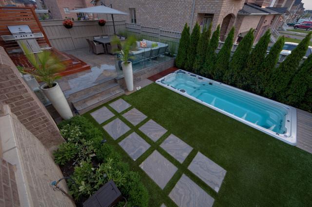 Backyard Installations contemporary-landscape