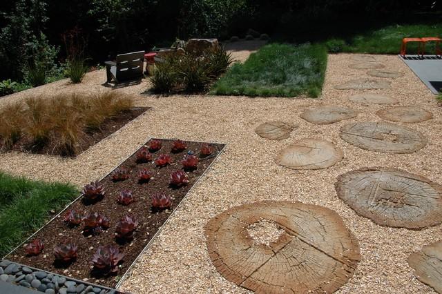 Backyard contemporary-landscape
