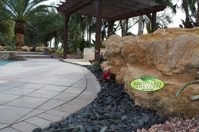Backyard landscape tropical landscape miami by for Landscaping rocks broward county