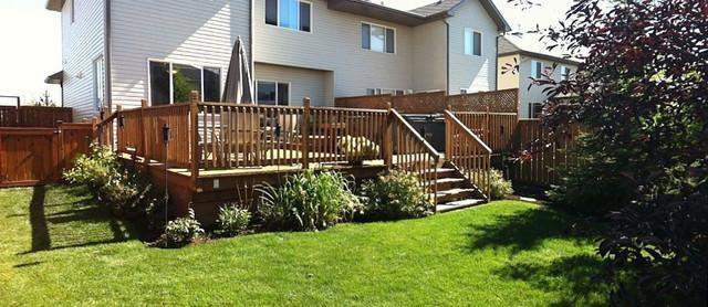 Backyard landscaping - Contemporary - Landscape - Calgary