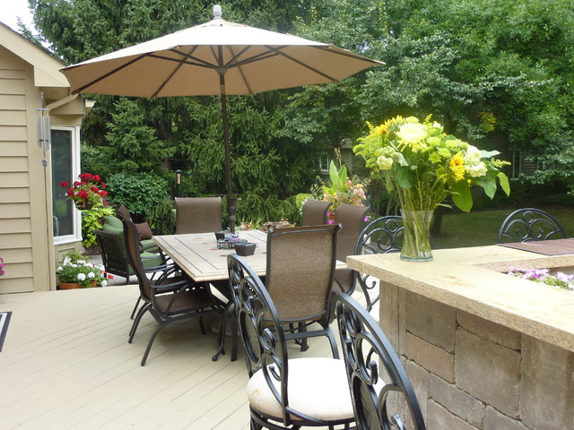 Backyard Living Spaces traditional-landscape