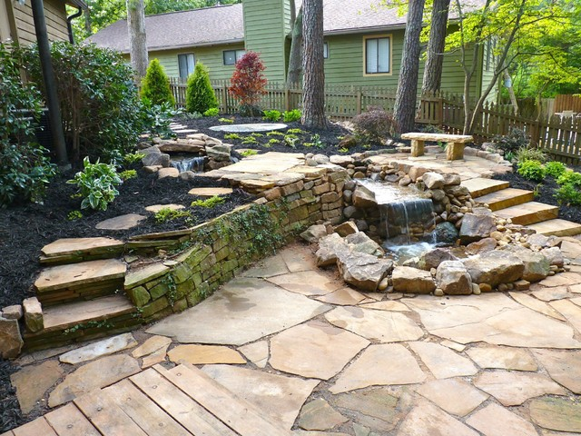 Backyard Makeover traditional-landscape