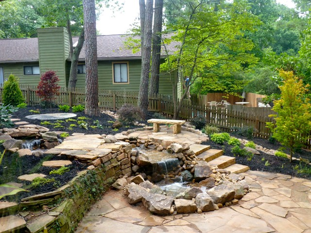 Backyard makeover traditional landscape atlanta by for Houzz landscape architects