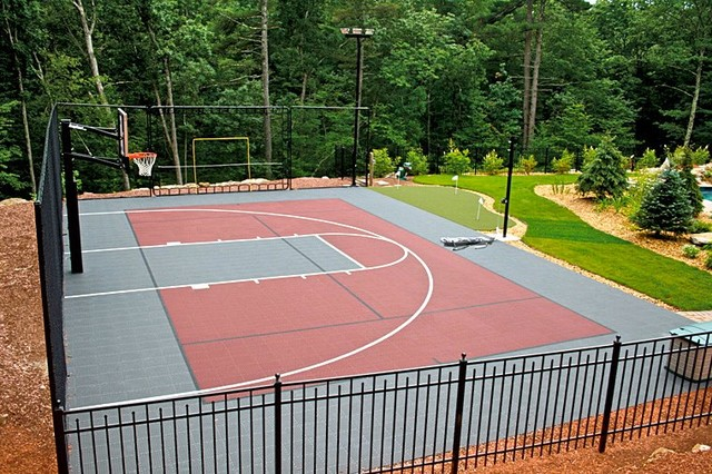 Backyard Multi Sport Outdoor Game Courts Traditional
