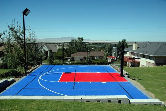 Backyard Multi Sport Outdoor Game Courts Contemporary