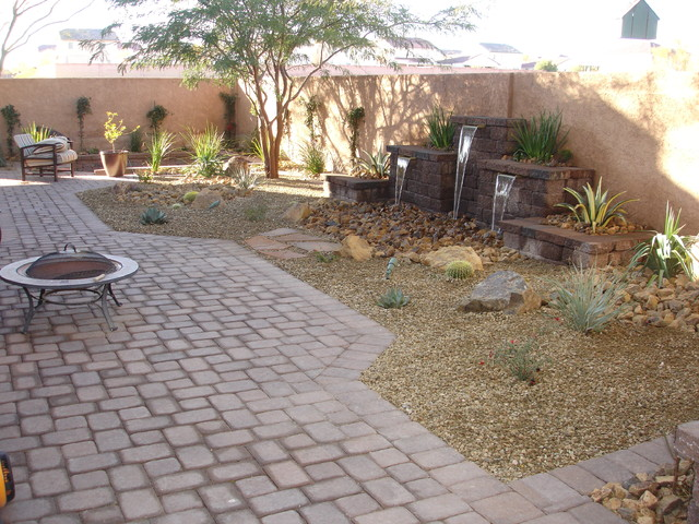 Las Vegas Backyard Model Enchanting Backyard Oasis  Southwestern  Landscape  Las Vegas . Design Decoration
