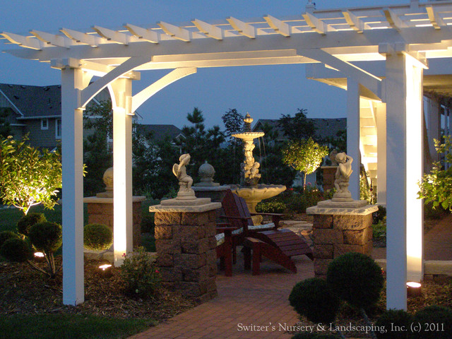 Backyard Pergolas & Patios traditional landscape