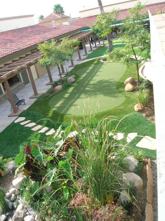 Backyard Putting Greens - Traditional - Landscape - San ...