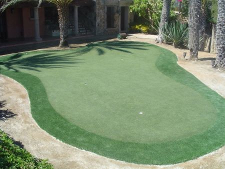backyard putting greens traditional landscape