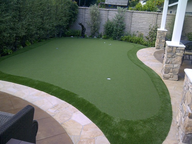 backyard putting greens traditional landscape los angeles by