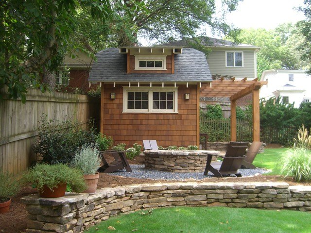 Backyard Retreat In Town Atlanta Craftsman Landscape